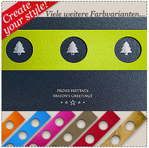 2309B - Banderolen - Firmenkarte- Metallic Grey